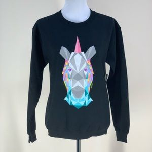 NWT LuLaRoe Unicorn Black Sweatshirt